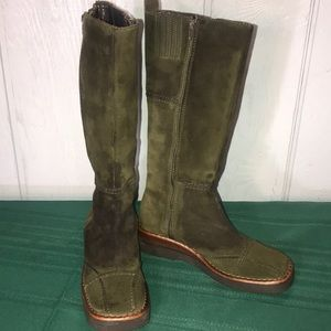 FRYE AVENGER BOOT DOUBLE ZIP FOREST GREEN SZ 9